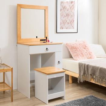 《C&B》古木調兩用化妝桌椅組