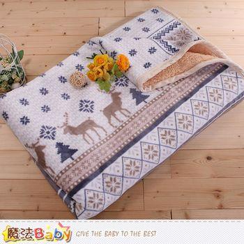 魔法Baby 頂級厚款法蘭絨毛毯150x200cm法蘭絨+羊羔絨毛毯~w65007