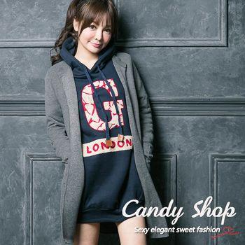 Candy 小鋪 質感針織長版開襟罩杉(黑/灰/卡其)-0094539