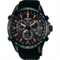 SEIKO ASTRON GPS衛星定位太陽能電波腕錶 ^#45 黑x橘時標 ^#47 4