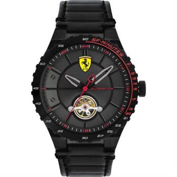Scuderia Ferrari 法拉利 奔馳時尚機械腕錶-黑/45mm 0830366