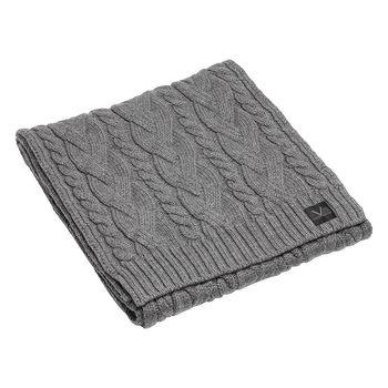 LOUIS VUITTON  M70033 TORSADE系列羊毛針織圍巾(灰色)