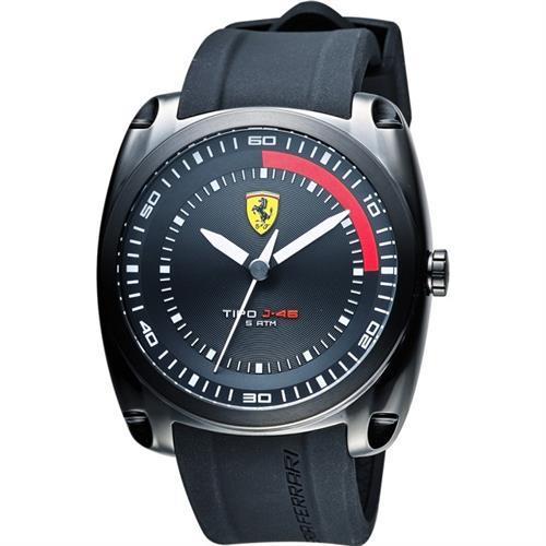 Scuderia Ferrari 法拉利 TIPO J-46 大三針手錶-黑/46mm 0830319