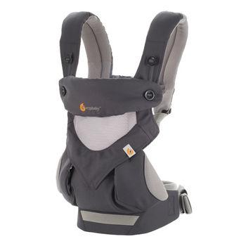 美國Ergobaby爾哥寶寶四向背法嬰童背帶-灰色透氣款