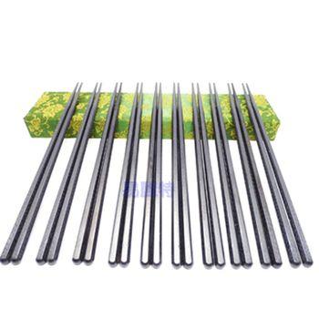 【易麗特】玻璃纖維合金筷-10雙入