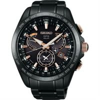 SEIKO ASTRON GPS 鈦 衛星太陽能電波腕錶 ^#45 黑 ^#47 45mm