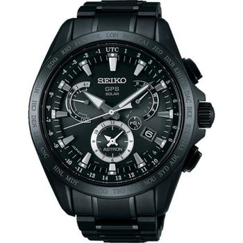 SEIKO ASTRON GPS衛星電波鈦金屬錶-鍍黑/45mm 8X53-0AB0SD(SSE049J1)