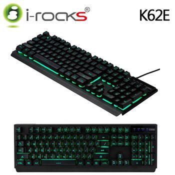 i-Rocks K62E多色彩背光金屬遊戲鍵盤-黑