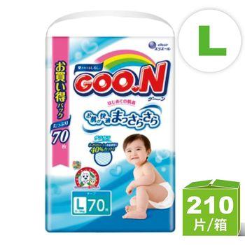 (L共210片)日本大王GOO.N 境內版阿福狗系列 L黏貼型(70片*3)紙尿褲