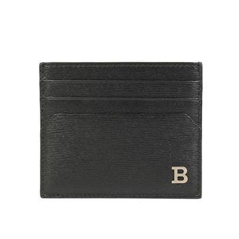 BALLY 防刮皮革名片夾(黑色)