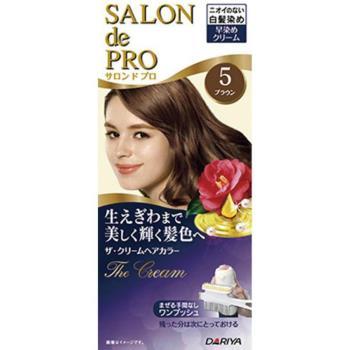 日本dariya沙龍級ONE PUSH女士用白髮染髮乳(5自然棕)*3