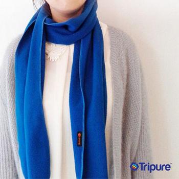 【樂齡網】i.pure保暖輕量刷毛圍巾/脖圍法國藍