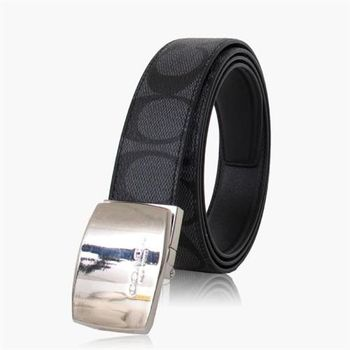 COACH 穿搭品味 PVC / 腰帶 / 皮帶(雙面)_黑色