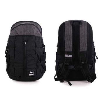 【PUMA】URBAN TRAINING後背包-雙肩包 旅行袋 黑白