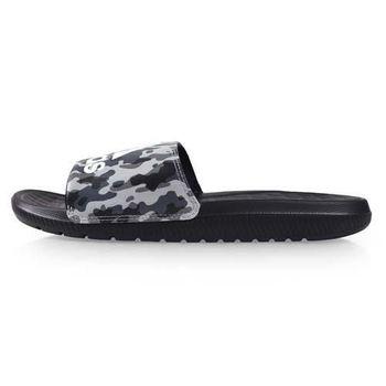 【ADIDAS】男運動拖鞋-游泳 海邊 海灘 戲水 愛迪達 迷彩黑灰