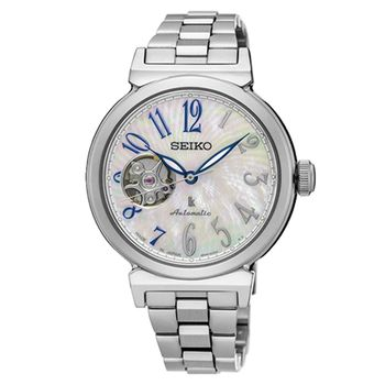 SEIKO 精工 LUKIA 珍珠貝面不銹鋼機械女用腕錶