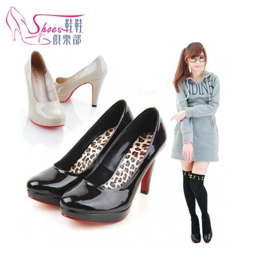 跟鞋【ShoesClub】【026-865】台灣製MIT 百搭素面細跟高跟包鞋.2色 黑金/米金