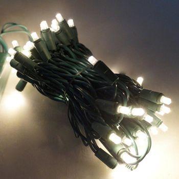 50燈LED燈串聖誕燈 (暖白光綠線)(附控制器跳機)(高亮度又省電)
