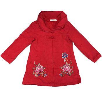 蘭陵厚磅緹花保暖修身長版外套
