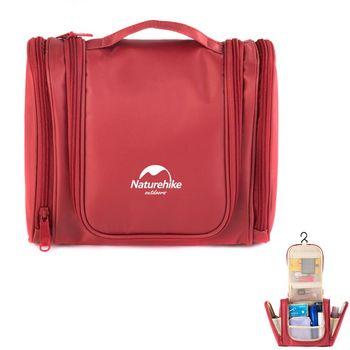 PUSH!旅遊用品防水防撕裂盥洗用具包便攜出差洗簌牙刷包(頂級款)S43-2桃紅色