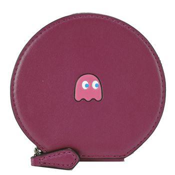 COACH 限量款 PAC MAN 小精靈造型零錢包(紫紅)