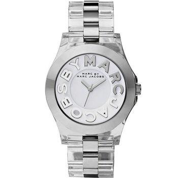 Marc Jacobs MARC 繽紛玻麗腕錶-透明/40mm MBM4545