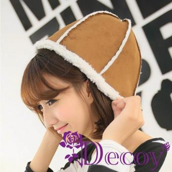 【Decoy】立體六角*仿麂皮帽/咖