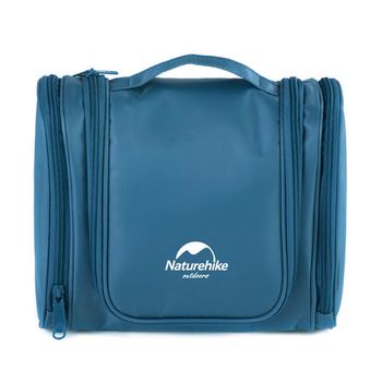 PUSH!旅遊用品防水防撕裂盥洗用具包便攜出差洗簌牙刷包(頂級款)S43-1湖藍色