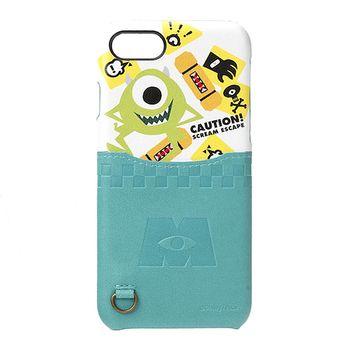 iJacket 怪獸電力公司 iPhone7 4.7吋 迪士尼 口袋皮革系列 硬式保護殼 - 大眼仔款