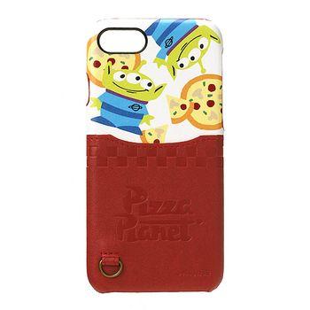 iJacket 玩具總動員 iPhone7 4.7吋 迪士尼 口袋皮革系列 硬式保護殼 - 披薩三眼怪款