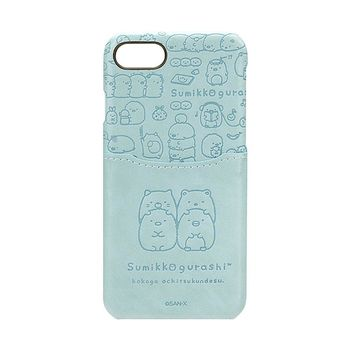 iJacket 角落生物 iPhone7 4.7吋 三麗鷗 口袋皮革系列 硬式保護殼 - 香草疊疊款