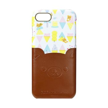 iJacket 拉拉熊 iPhone7 4.7吋 三麗鷗 口袋皮革系列 硬式保護殼 - 香草冰淇淋款