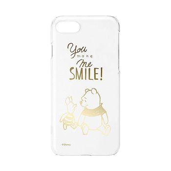 iJacket 迪士尼 iPhone7 4.7吋 金箔系列 透明硬式保護殼 - 小熊維尼