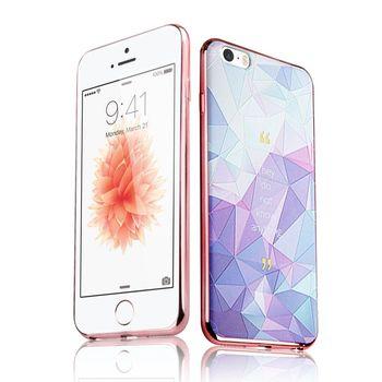 Colors iPhone 5 / 5s / SE 夢幻浮雕彩繪軟式手機殼-夢幻冰晶