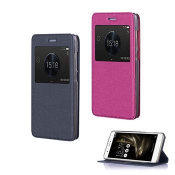 【YANG YI】揚邑ASUS Zenfone 3 Ultra ZU680KL 6.8吋 金沙方窗車線側立智能APP休眠隱形磁扣皮套