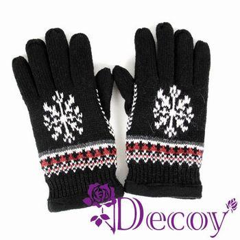 【Decoy】編織雪花*加厚毛線手套/三色可選