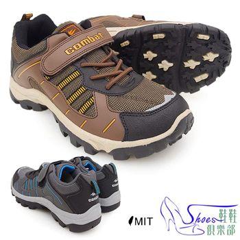 【Shoes Club】【107-FA468】運動鞋.台灣製MIT 舒適寬楦頭魔鬼氈男工作鞋 運動鞋.2色 黑/咖(無鋼頭)