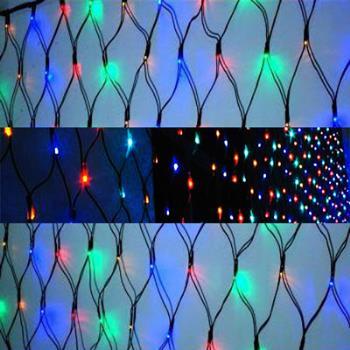 聖誕燈裝飾燈LED燈 128燈 網燈 (四彩色光) (高亮度又省電)