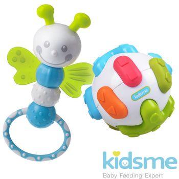 英國kidsme-聽力訓練球+蜻蜓拉環固齒器