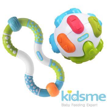 英國kidsme-聽力訓練球+扭扭手搖鈴