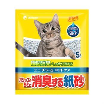 【日本Unicharm消臭大師】尿尿後消臭紙砂5L