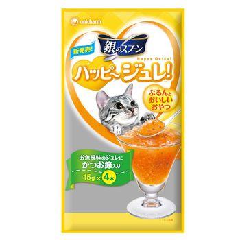 銀湯匙 快樂肉凍柴魚風味(4條×10包)
