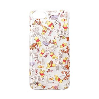 iJacket 迪士尼 iPhone7 4.7吋 透明亂花 硬式保護殼 - 小熊維尼 限定款