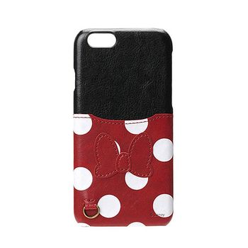 iJacket 迪士尼 iPhone7 Plus 5.5吋 口袋皮革系列 硬式保護殼 - 米妮款