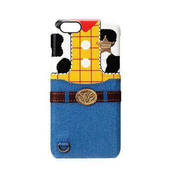 iJacket 玩具總動員 iPhone7 Plus 5.5吋 迪士尼 口袋皮革系列 硬式保護殼 - 胡迪款