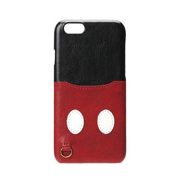 iJacket 迪士尼 iPhone7 4.7吋 口袋皮革系列 硬式保護殼 - 米奇款