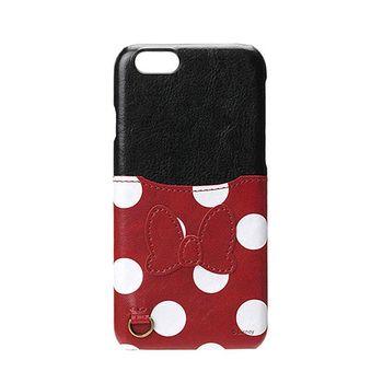 iJacket 迪士尼 iPhone7 4.7吋 口袋皮革系列 硬式保護殼 - 米妮款