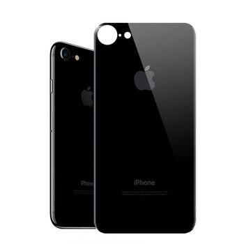 秒變 曜石黑 APPLE iPhone7 4.7吋 曜石黑背貼 玻璃膜