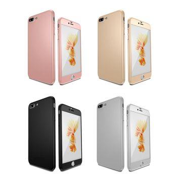 UCASE Apple iPhone7 / 7Plus 360度全包覆保護殼 手機殼+鋼化玻璃貼