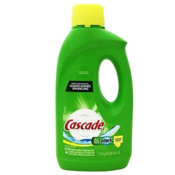 【美國 Cascade】洗碗機專用洗碗劑-檸檬(45oz/1.27kg)*9/箱購加贈餐具亮光劑一瓶